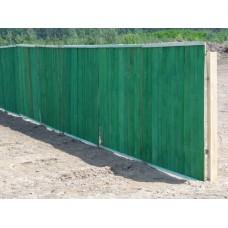 Строительный забор (щит заборный) окрашенный